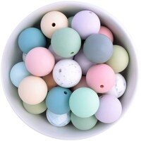 22mm Round Silicone Bead