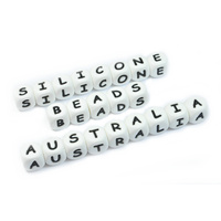 Alphabet Letter Silicone Bead