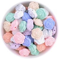 20mm Flower Silicone Bead