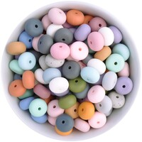14mm Abacus Silicone Bead