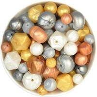 Silicone Bead Mystery Pack - Mixed Metallics