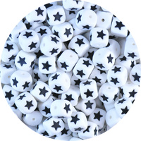 Star 12mm Cube Silicone Bead