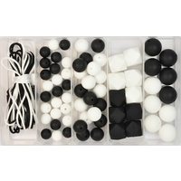 Silicone Bead Jewellery Kit - Monochrome