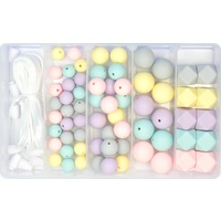 Silicone Bead Jewellery Kit - Pastel