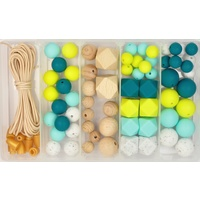 Silicone & Wood Bead Jewellery Kit - Beach