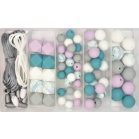 Silicone Bead Jewellery Kit - Teal Dreams