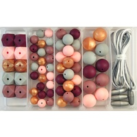 Silicone Bead Jewellery Kit - Plum Blush