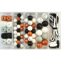 Silicone Bead Jewellery Kit - Midnight Copper