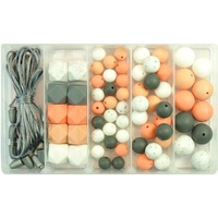 Silicone Bead Jewellery Kit - Muted Peach