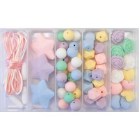 Little Miss Pastel Silicone Bead Jewellery Kit