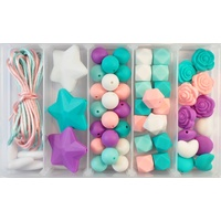 Little Miss Turquoise Silicone Bead Jewellery Kit