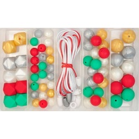 Silicone Bead Jewellery Kit - Christmas Cheer