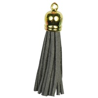 GOLD TOP Tassels - Dark Grey