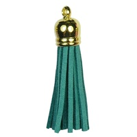 GOLD TOP Tassels - Teal