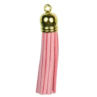 GOLD TOP Tassels - Pink