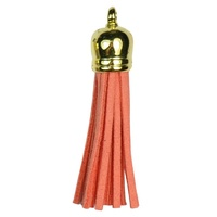 GOLD TOP Tassels - Watermelon