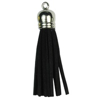 SILVER TOP Tassels - Black