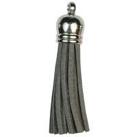 SILVER TOP Tassels - Dark Grey