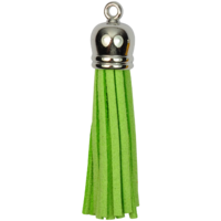 SILVER TOP Tassels - Lime