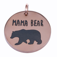 Charm Rose Gold 18mm - Mama Bear