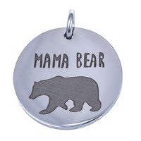 Charm Stainless Steel 18mm - Mama Bear