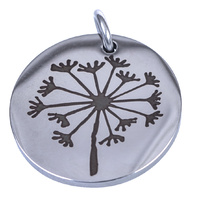Charm Stainless Steel 18mm - Dandelion