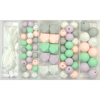 Silicone Bead Jewellery Kit - Pastel Granite