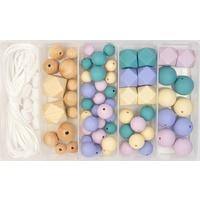 Silicone & Wood Bead Jewellery Kit - Wheat Fields