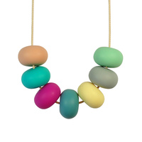Abacus Bead Silicone Necklace A