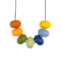 Abacus Bead Silicone Necklace B