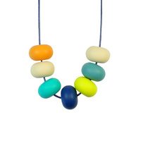 Abacus Bead Silicone Necklace C