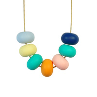 Abacus Bead Silicone Necklace D