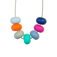 Abacus Bead Silicone Necklace E
