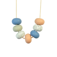 Abacus Bead Silicone Necklace F