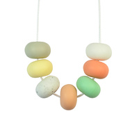 Abacus Bead Silicone Necklace G