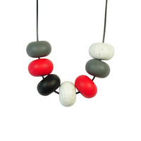Abacus Bead Silicone Necklace H