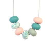 Abacus Bead Silicone Necklace I