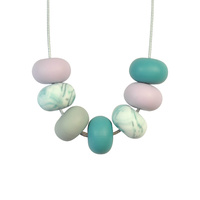 Abacus Bead Silicone Necklace J