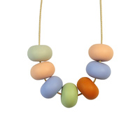 Abacus Bead Silicone Necklace K