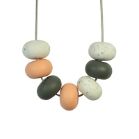 Abacus Bead Silicone Necklace L