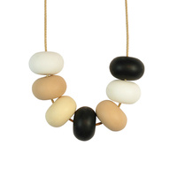 Abacus Bead Silicone Necklace M