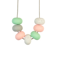 Abacus Bead Silicone Necklace N
