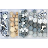 Deluxe Silicone & Wood DIY Kit - Neutral Greys