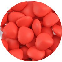DISCONTINUED Chunky Stone Silicone Bead Coral Red 10pk
