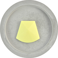 DISCONTINUED Big Faceted Pendant Bead - Pale Yellow