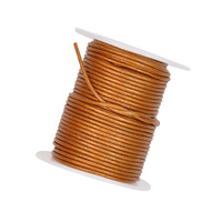 Leather Cord 1.5mm Spool - Copper