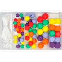 Rainbow Silicone Bead Jewellery Kit