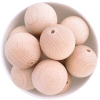 Beech Wood Beads - 35mm Round