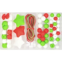Silicone Bead Jewellery Kit - Christmas Cheer Kids