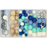 Deluxe Silicone & Wood Bead DIY Kit - River